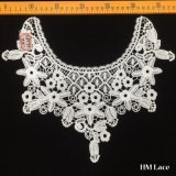 32*28cm Knitted Polyester High Refined Fashion Round Collar Lace Trim with Flower Fringe for Women Garment Hml8577 Factory Outlet with Customized Pattern