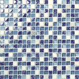 2017 Colorful Square Shape Stainless Crystal Glass Mosaic Tile