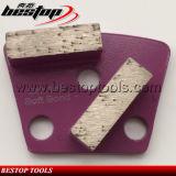16# Soft Two Segment Bar Trapezoid Diamond Concrete Grinding Blocks
