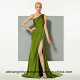 One Shoulder Split-Front Wedding Party Formal Evening Dresses