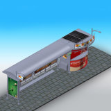 Big Size Bus Stop Design Solar Bus Stop with Light Box and Bench
