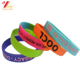 Wholesale Promotion Gift Decoration Printing /Debossed /Embossed Bracelet Rubber Band Silicone Wristband (YB-SW-36)
