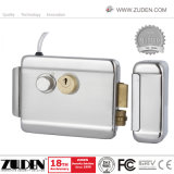 High Security Electric Rim Lock with Double Cylinder & Nickel Plating