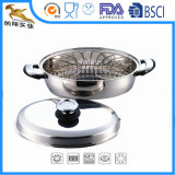 Stainless Steel Cookware Oval Roaster with Rack and Lid (CX-SR0301)