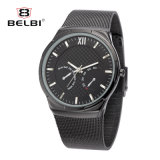 Belbi Business Fake Calendar Display Men Stainless Steel Wristwatch