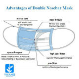 New Style Disposable Face Mask with Two Nose Bar