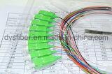 Optical Fiber 1X8 Steel Tube 0.9mm Sc/APC Coupler