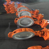 Worm Gear Operation Wafer Lined F3 Butterfly Valve