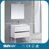 Hot Sale Europe Style Bathroom Vanity with Mirror Cabinet (SW-1502)
