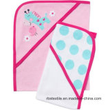 Girl′s Hooded Towel with Cute Design Embroidery
