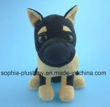 20cm Stuffed Plush Toy Black Dog Toy