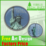 Factory Price Commemorative Custom Enamel Metal Silver Coin for Decoration