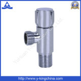 Chrome Plated Brass Angle Valve with Zinc Handle (YD-5031)