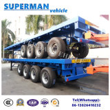 Utility Container Flatbed Semi Truck Trailer 4 Axle for Heavy Cargo