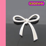Boosin Sweet Bow Tie Polished Silver Costume Metal Charms (12033)