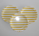 Yellow Stripe Wholesale Eco-Friendly Disposable Paper Plate