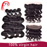 Brazilian Virgin Hair Bundles with Body Wave Silk Base Closure