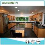 Large Stainless Steel Kitchen Island with Quartz Top