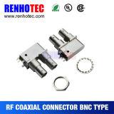 Right Angle PCB Mounting BNC 3G 4G HD Sdi Video Connector