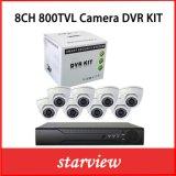 8CH 800tvl IR CCTV Security Dome Camera Dvrkits