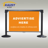 Queue System Retractable Belt Barrier Advertising Banner