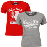 OEM Fashion Ladies Girls Woman Cotton Vasity Nyc T Shirt