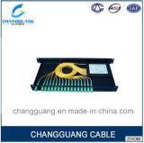 China Professional Supplier on PLC Splitter 1*4 1*8 1*16 Sc PLC ABS Box Splitter Fiber Optic Cable Price Per Meter