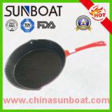 24-30cm Carbon Steel Enamel Cooking Pot/Frying Pan/Baking Pan Skillet with Handle
