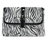 Waterproof Zebra PU Evening Bag for Make up