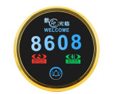 Electronic Hotel Doorplate & Touch Doorbell Switch with LED Room Number Display (MP02-PB)