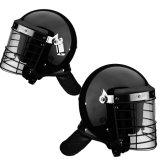 Black Anti Riot Police Helmet