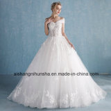 The Bride Romantic Lace Flower Removable Long Wedding Dresses