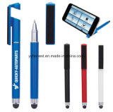 Promotional Plastic Ball-Point Pen Stylus Pen with Phone Holder