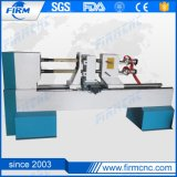 Two Rotary Axis CNC Wood Turning Lathe Machine