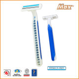 Platinum Coated Triple Stainless Steel Blade Disposable Razor (LV-5023)