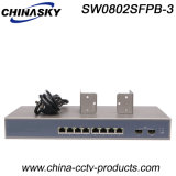 8RJ45 + 2SFP Full Gigabit Fiber Optic Ethernet Switch (SW0802SFP-3)