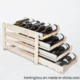 Rustic Solid Wood Drawer Wine Rack for Wine Storage Rack