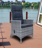 Modern Patio Leisure Furniture Aluminum Half Round Rattan Chair (J0331HR)