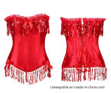 Fashion Womens Sexy Vintage Floral Lace Waist Traing Corset Bustier