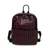 Black Rose Red Small Size PU Backpack Bag (A097-3)