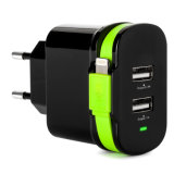 Dual USB Travel Charger with Ce UL Certificate