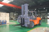 China 10ton Heavy Forklift Truck, Japanese Isuzu Engine 6bg1, Heavy-Duty Driving Axle, Engineer Available to Servive Overseas