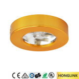 3W Aluminum Round Warm White COB Dimmable LED Puck Light