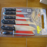 Stainless Steel Kitchen Knives 7PCS Set No. Kns-7b02