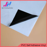 Matte Black Back Self Adhesive Vinyl Stickers for 80 GSM