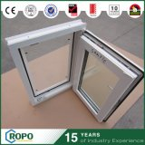 The Best Quality White Color Plastic Frame Double Glass Windows