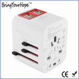 White Color Universal Travel Adaptor with Quad USB Ports (XH-UC-014)