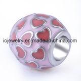 Customized European Round Shape Heart Shape Bead