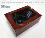 Handmade Trendy Watch Box 8 Slots Wood Display Case with Window