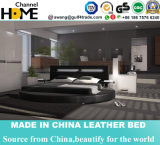 European Style LED Lights Modern Double Bed (HC320)
